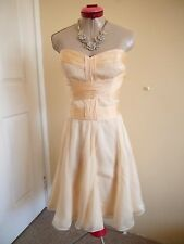 FOREVER NEW Cream 100% Pure SILK DRESS Size 14 BNWT NEW Cocktail Party Evening