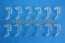 "12 pcs 1 Inch Single Slat Clear Valance Retainer Clips 1"" for Wood or Mini Blind"
