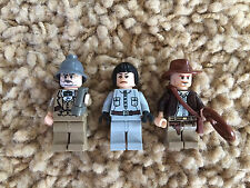 3 Lego Indiana Jones Minfigures Irina Spalko Henry Sr. Jones Lot 4 7628 7624 HTF