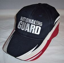 National Guard Red/White/Blue Flames Baseball Cap Hat 100% Cotton One Size