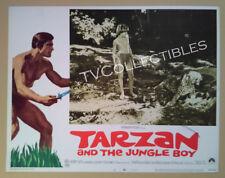 Lobby Card~ TARZAN AND THE JUNGLE BOY ~1968 ~Steve Bond with tiger ~CS