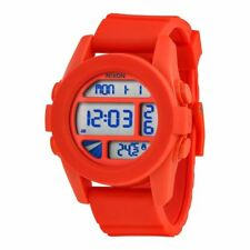 f46b416be Nixon A197383 Unit Red Pepper Digital Date Dial Silicone Band Unisex Watch