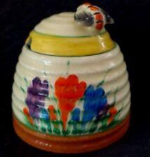 clarice cliff  crocus large size beehive honey pot
