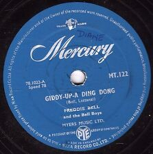 "1956 ROCKING CLASSIC FREDDIE BELL 78 "" GIDDY-UP-A-DING DONG "" MERCURY MT 122 E-"