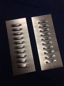 STEEL LOUVER PANEL SET PAIR - MULTI-USE HOT ROD HOOD SCTA LOUVERED RAT JEEP VENT