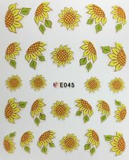 Nail Art 3D Decal Stickers Sunflowers E045