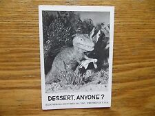 1961 VINTAGE LEAF SPOOK STORIES UNIVERSAL MONSTERS CARD # 49 DINOSAUR, T-REX