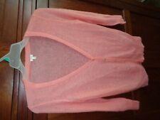 J. Crew Peach Loose Knit Cardigan Hardly Worn Leg Acrylic Nylon Wool 10% Mohair
