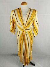 Ladies Dress Size 12 RIVER ISLAND Yellow Stripe Smart Casual Day Party