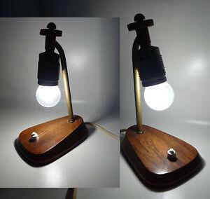 2 vintage Nachttischlampen Pärchen Tischlampen lamps 1960er Görlitz !