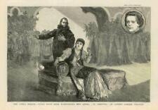 1881 - Antique Print LONDON Covent Garden Theatre Herr Rubinsteins Opera  (238B)