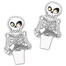 12 Haunted Halloween Spooky Skeleton Plastic Cupcake Cake Toppers Decorations
