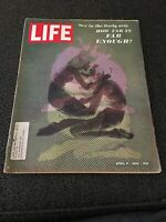 LIFE MAGAZINE APRIL 4, 1969 SEX IN THE LIVELY ARTS HOW FAR IS FAR ENOUGH?