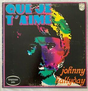 JOHNNY HALLYDAY 33 TOURS VINYLE QUE JE T'AIME CANADA ORIGINAL 1967 LIVE