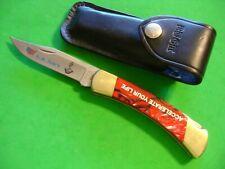"NTSA BUCK USA 4 7/8"" CLOSED ""FOLDING HUNTER' LOCKBACK PKT KNIFE W/CASE #110 2009"