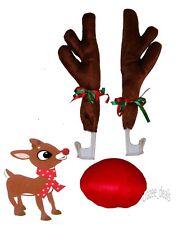 Christmas Car Costume Reindeer Antlers Car Truck SUV Decorating Kit NEW