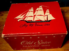 RARER VINTAGE OLD SPICE SHAVING MUG MT. VERNON 1798 SHIP SHULTON W/BOX NO SOAP