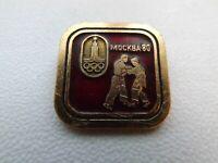 Vintage Soviet Pin Badge Olympics Moscow 1980 Olympic Games,Sambo,USSR