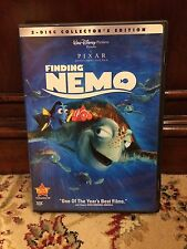 Finding Nemo 2-Disc Collector's Edition Dvd 2003 Walt Disney Pixer Family Movie