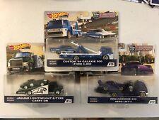 Hot Wheels Team Transport #14,15,17 '64 Galaxie 500 Jaguar E-Type Porsche 930