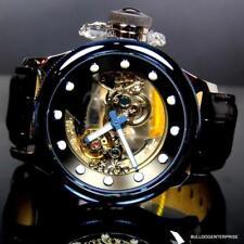 Invicta Men's Russian Diver Automatic 100m S. Steel Black Leather Watch 24596