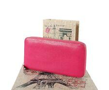 Hermes Long Wallet Zip-Around Organizer Rose Shocking All Leather
