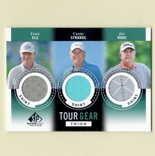 New listing Ernie Els Curtis Strange Jay Haas 2013 SP Game Used Tour Gear Trios Shirts