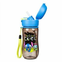 Disney Authentic Stitch Flip Top Water Bottle 12oz Cup Lilo & Stitch Canteen New