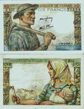 """France :(( Superbe billet de 10F """" MINEUR """" )) 1946"""