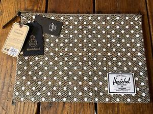 NEW! Premium Herschel Network Pouch XL HARRIS TWEED Collection Travel Pouch