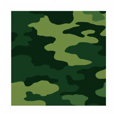 Army Armed Forces Camouflage Paper Napkins 16 Party Lunch Serviettes 518128
