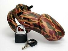 Chastity 3 1/4IN Camouflage Penis Cage, Adult Male Fetish Bondage Foreplay Toy