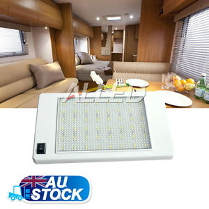 12V Rectangle Ceiling Cabin Down Light With Switch Caravan/RV/Motorhome/Camper