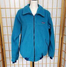 Patagonia Fleece Blue Full Zip Womens L USA Large Jacket            C7