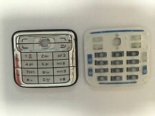 Original Nokia N73 Keypad Tastaturmatte Tastatur Weiß Silber Neu