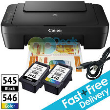Canon PIXMA MG2450 MG2550 All-In-One Printer + Canon Inks + USB Cable + Free P&P
