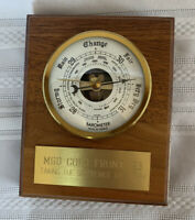 Vintage 90's 1993 Heartwood Creations Wooden Barometer MGD Cold Front