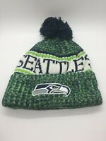 Seattle Seahawks New Era Football Beanie Embroidered Knit Cap Sideline Hat