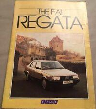 Fiat Regata Car Brochure -1986