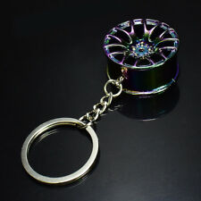 Colorful Hot Creative Wheel Hub Rim Model Man's Keychain Car Key Chain Cool Gift