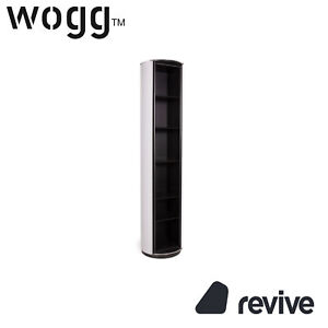 WOGG 13 Amor Metal Pillar Black 5 Shelves Shelf Highboard Grey