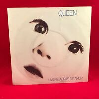 "QUEEN Las Palabras De Amor 1982 UK 7"" single EXCELLENT CONDIT  Freddie Mercury T"