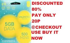 EE 4G Pay As You Go PAYG SIM Card - TRIPLE CUT Standard, Micro & Nano - £15 PACK