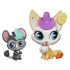 Littlest Pet Shop #3810 Roxy Reddington la Fox y #3811 polvoriento West el ratón