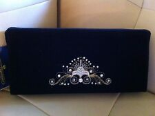 New Gorgeous Velvet Evening Clutch Embroidered by Russian Zolotoshvei NWT