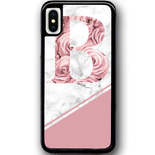 For iPhone X - Case Phone Cover PERSONALISED Pink Marble Rose Y01510