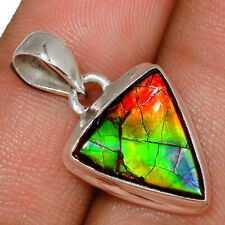 Genuine Canadian Ammolite 925 Sterling Silver Pendant  Jewelry AP172534