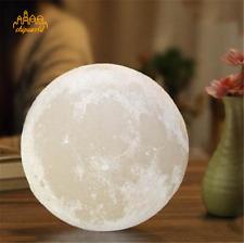 3D USB Moon LED Night Light Moonlight Table Lamp Kids Birthday Gift Home Decor