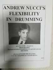 Andrew Nucci's Flexibility In Drumming. Drum Books. Drum Instruction Books. Drum