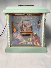 "Artist Made Miniature Dollhouse Room Box ""Widow In The Wardrobe""."